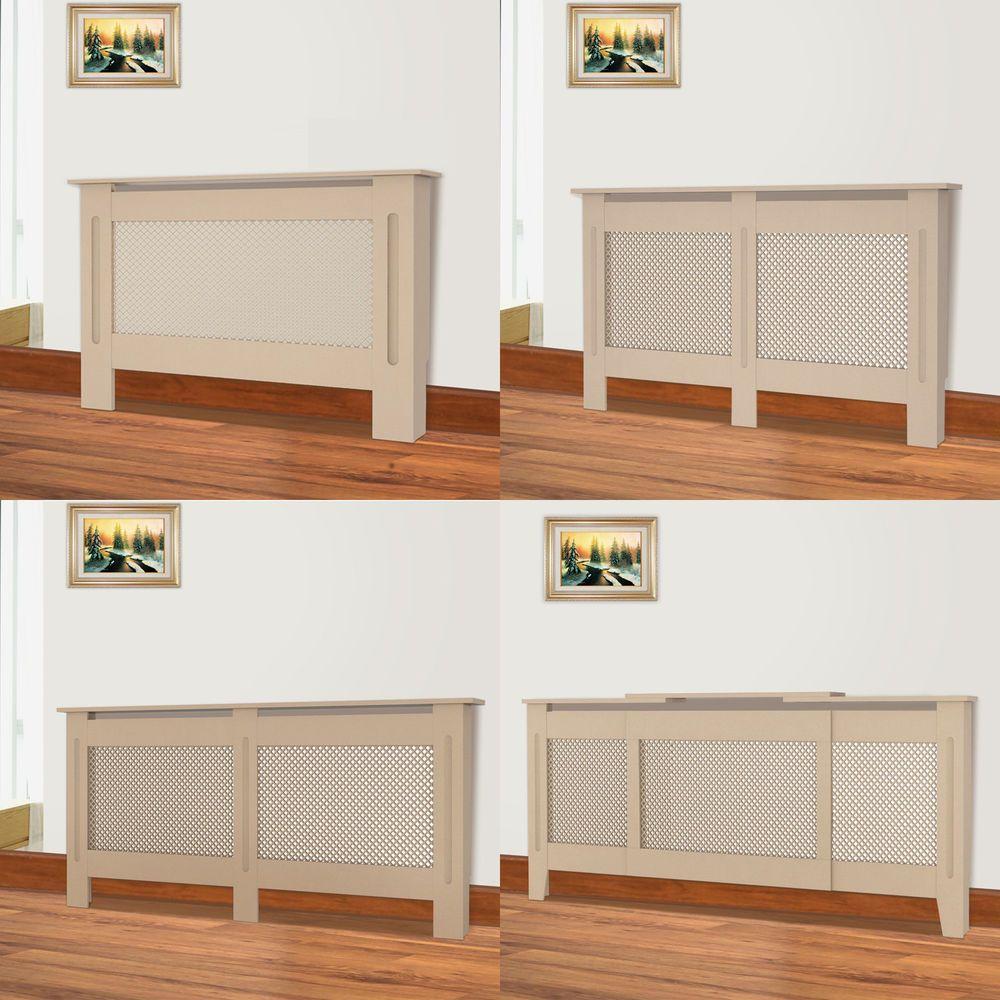 MDF Wood Radiator Cover Shelf Small Medium Adjustable