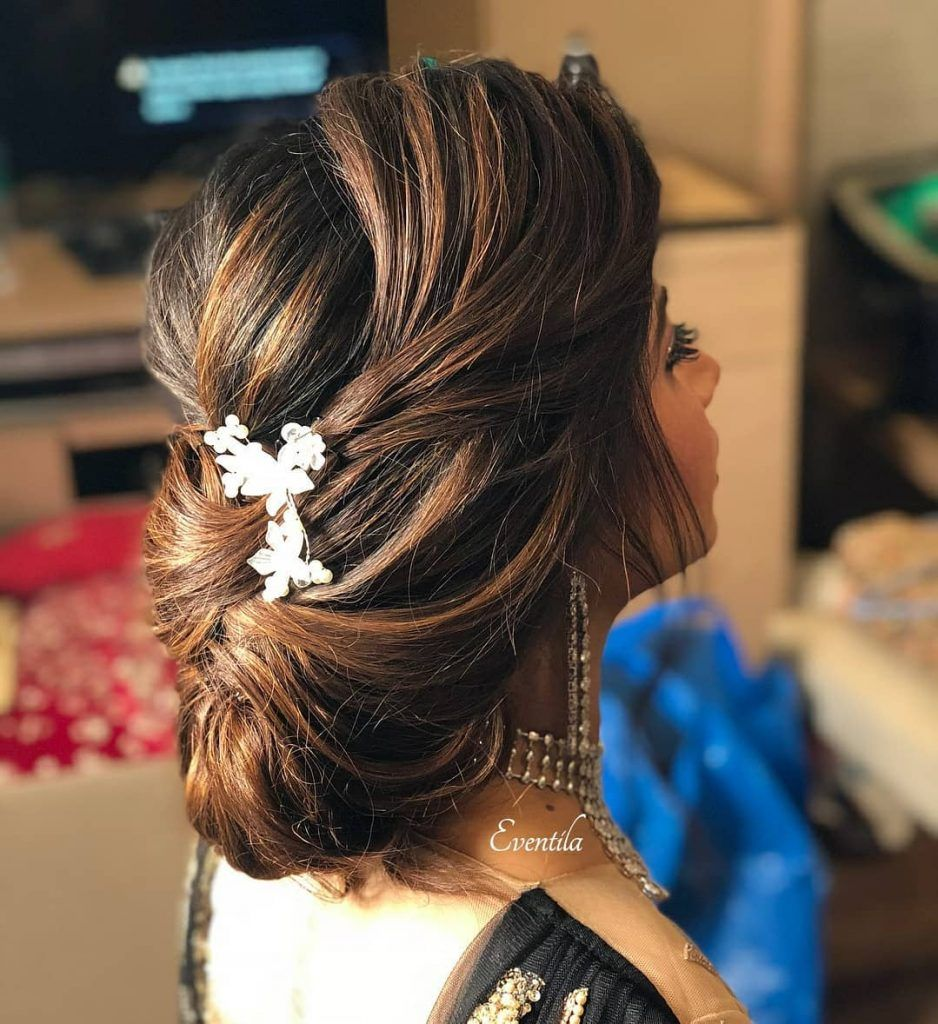 25+ Pre-Wedding Hairstyles for Mehndi Haldi or more functions! | Engagement hairstyles ...