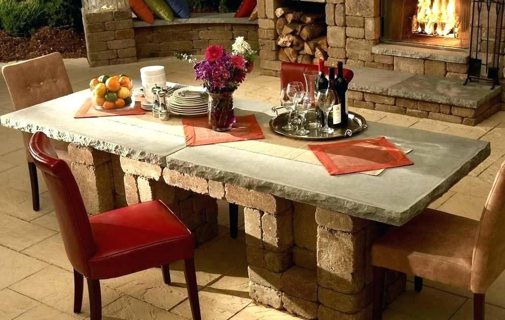Concrete Dining Table Outdoor Ideas Diningroomideas Diningtable