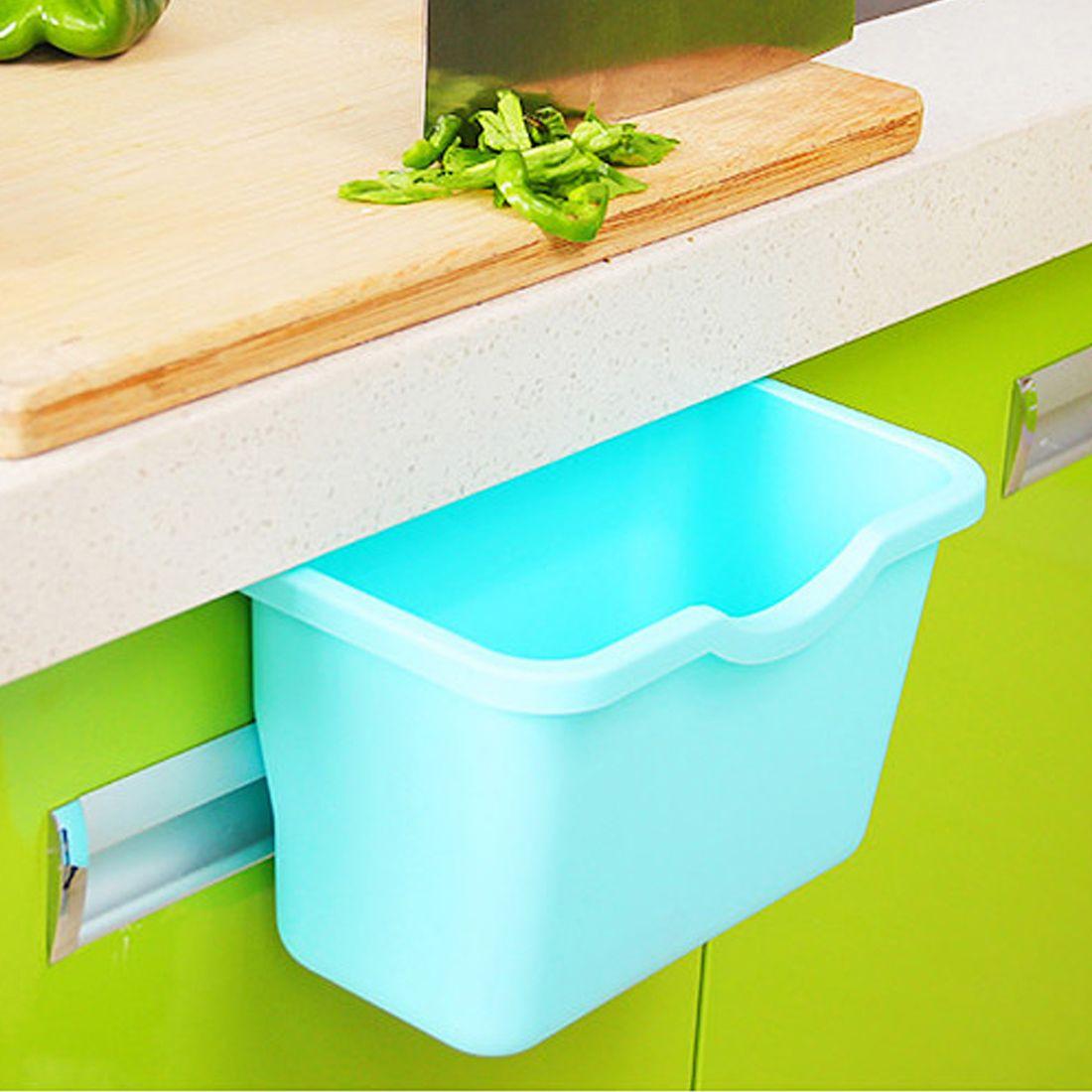 Top Sale plastic kitchen storage box portable mini trash bin desktop ...