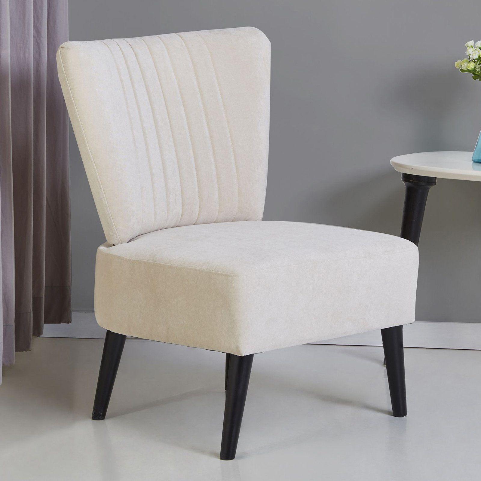 Best Gold Sparrow Fontana Armless Accent Chair Beige Accent 400 x 300