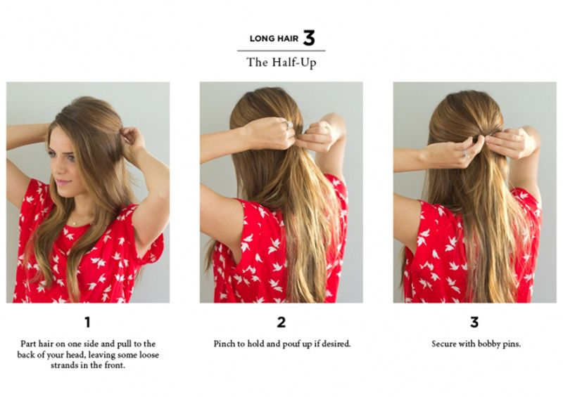 10 Easy Ways To Style Hair The Everygirl Long Hair Styles Hair Styles Short Hair Styles Easy