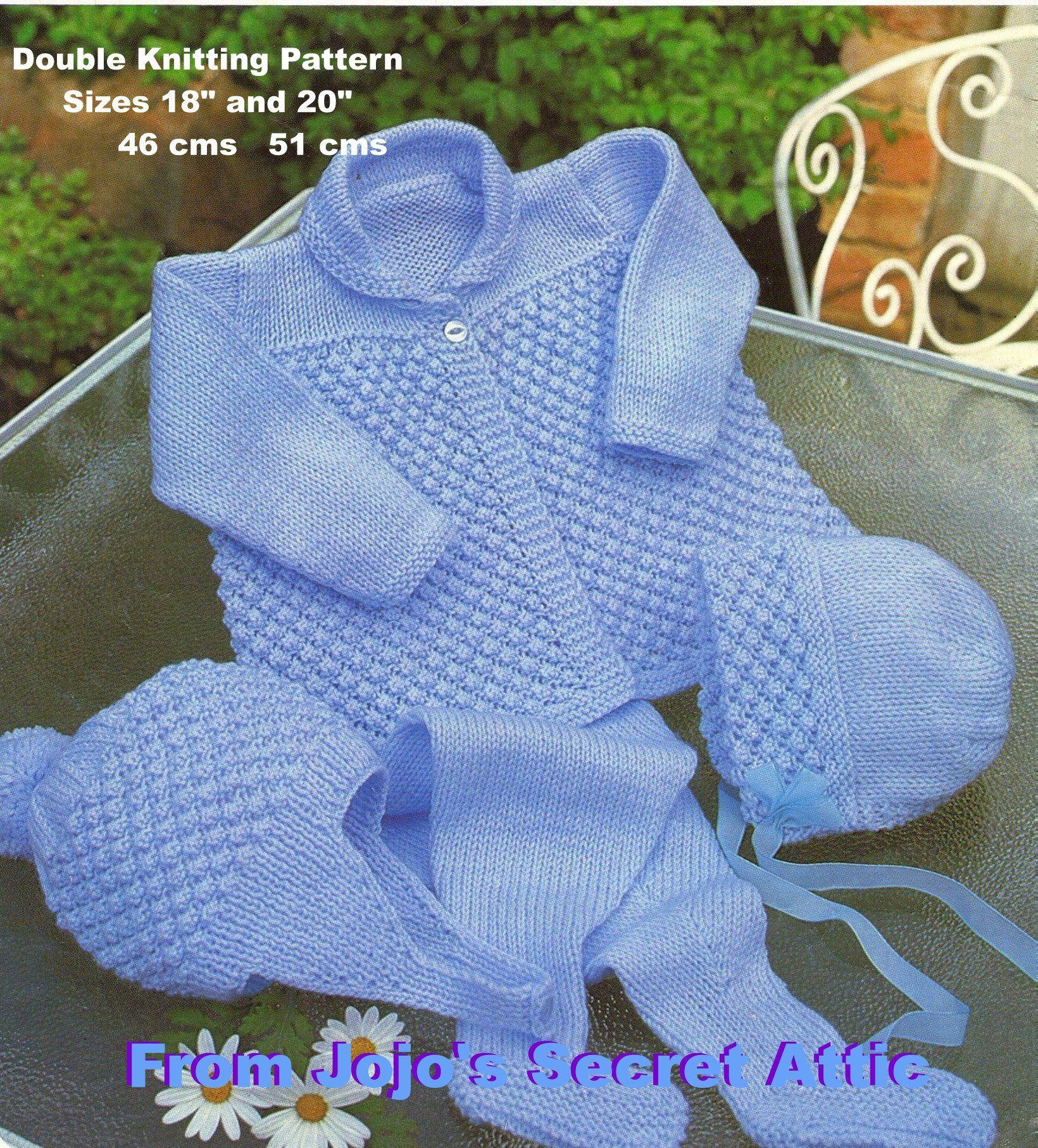 Double Knitting Pattern Pram Set | Pram sets, Double knitting and ...