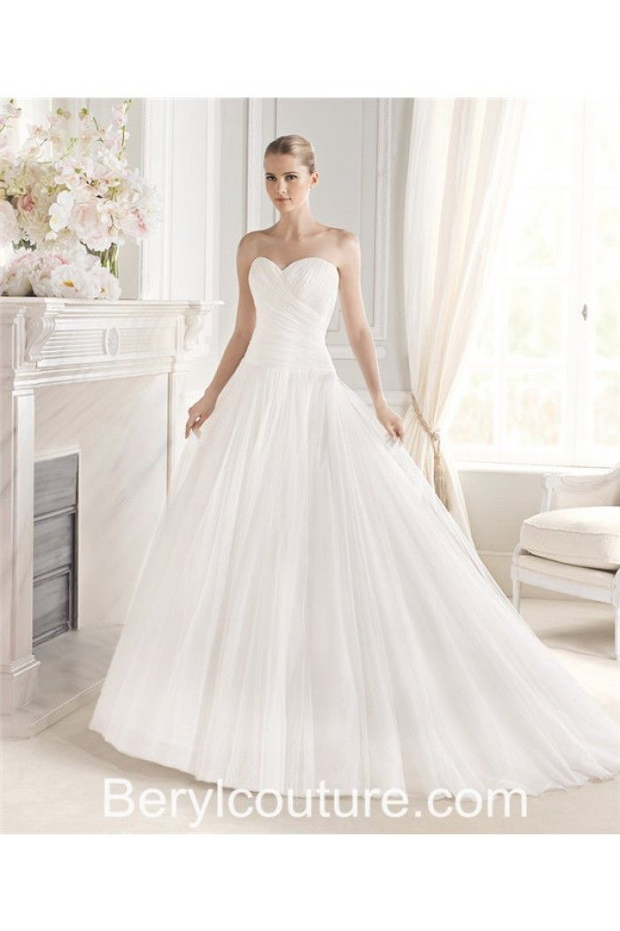 simple ball gown strapless sweetheart neckline ruched