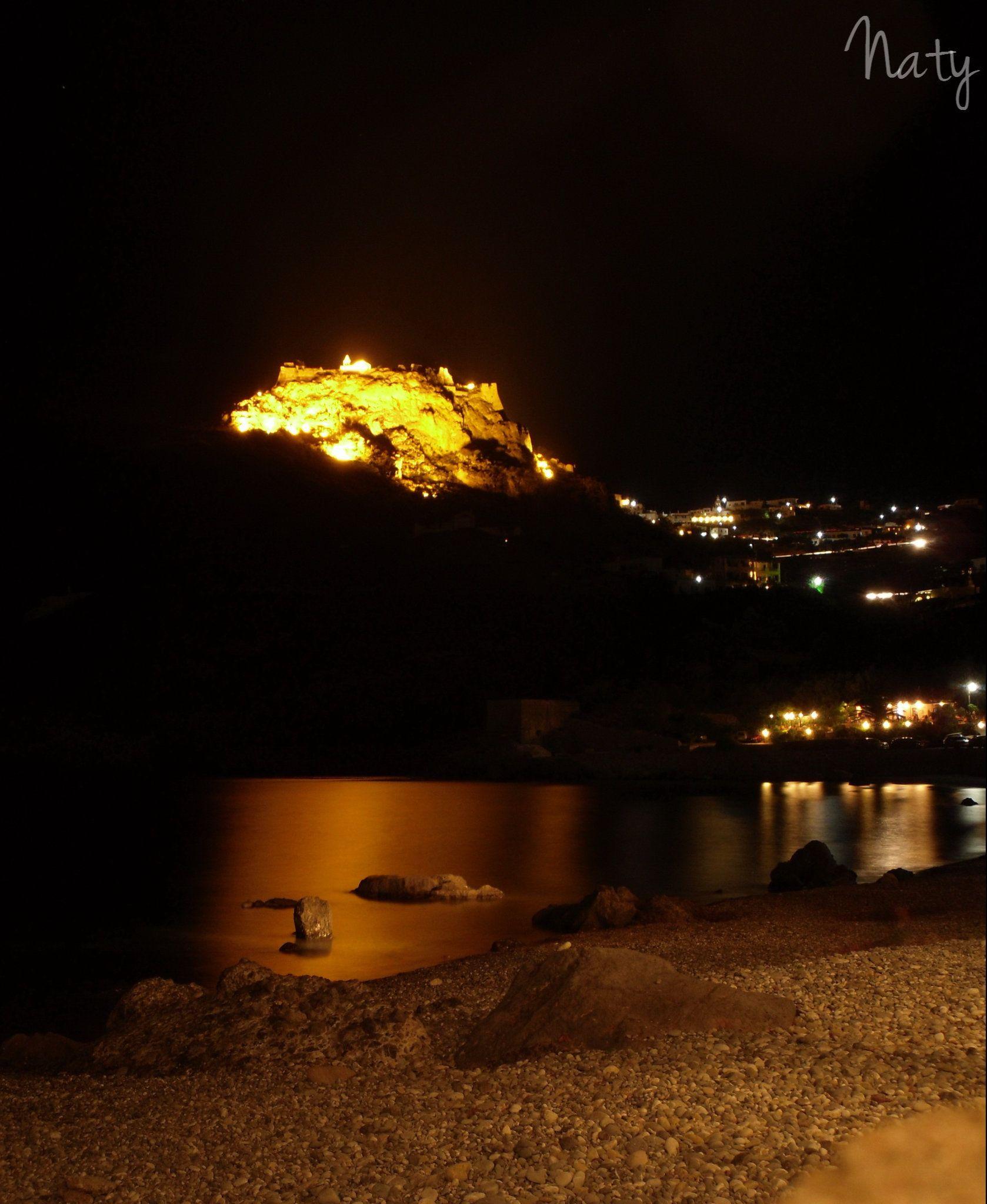 Kapsali caste by night. No filter at all. Kythera