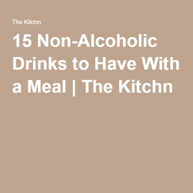 15 Non-Alcoholic Drinks to Have With a Meal | The Kitchn