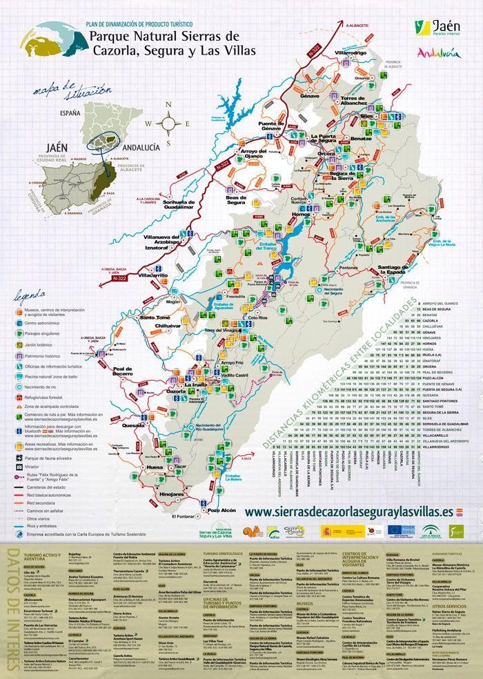 Sierra De Cazorla Y Segura Mapa.Mapa De La Sierra De Cazorla Segura Y Las Villas 2014 Mi