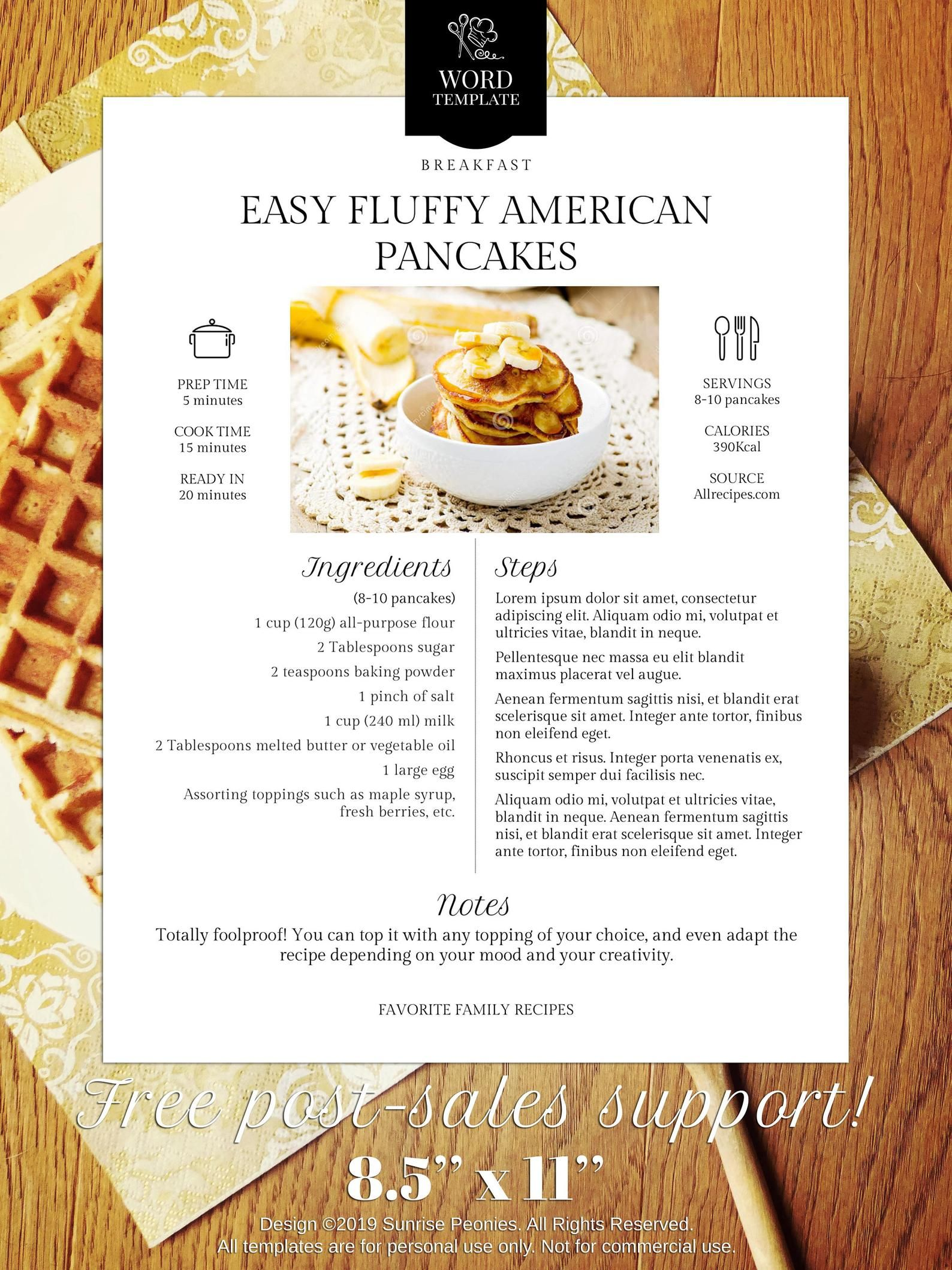 Best Seller Modern Cookbook Recipe Template Design 036 Etsy Homemade Recipe Books Homemade Cookbook Recipe Template