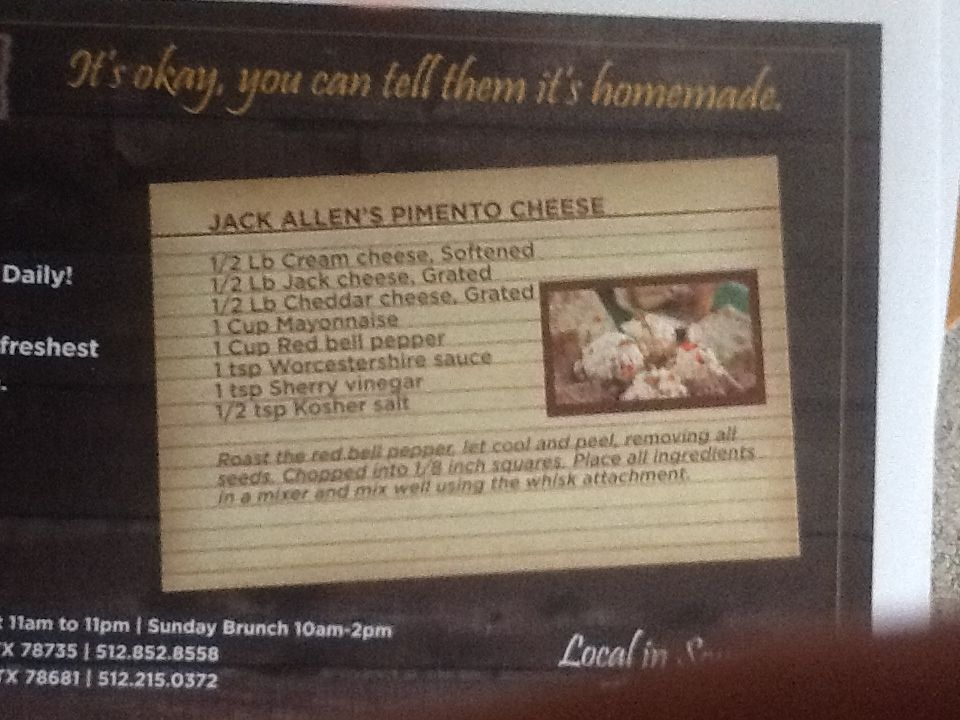 Jack Allen Kitchen Pimento Cheese Recipe