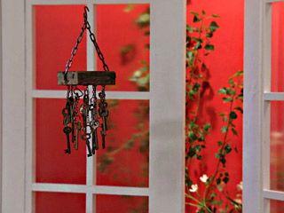 Llamador de angeles con llaves viejas recycle llaves for Manualidades con puertas viejas