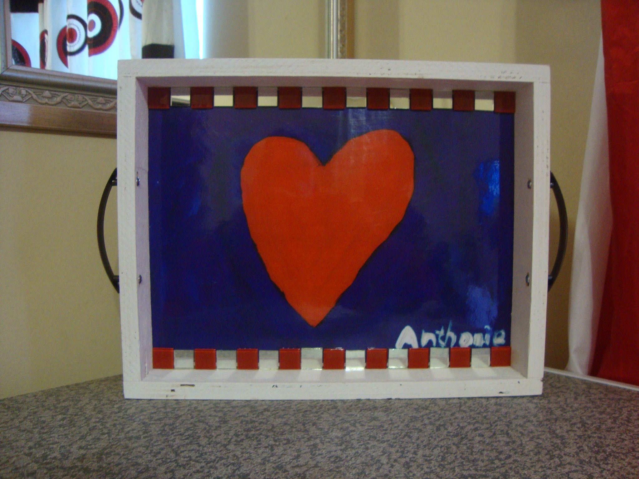 Tray Art. Country flags, Art, Decor