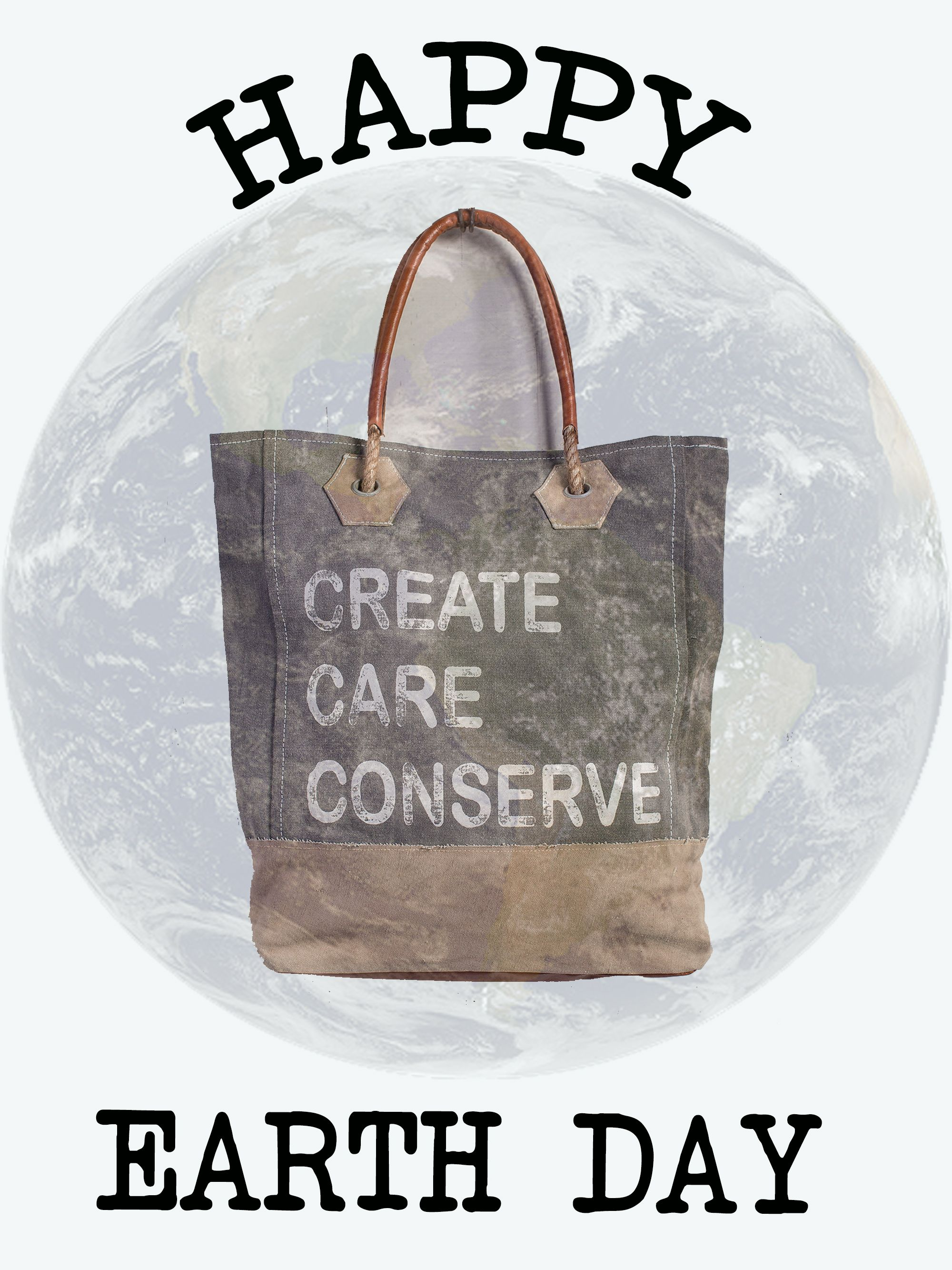 Happy #EarthDay from Mona B upcycled canvas bags.  Remember to reduce, reuse and #recycle!