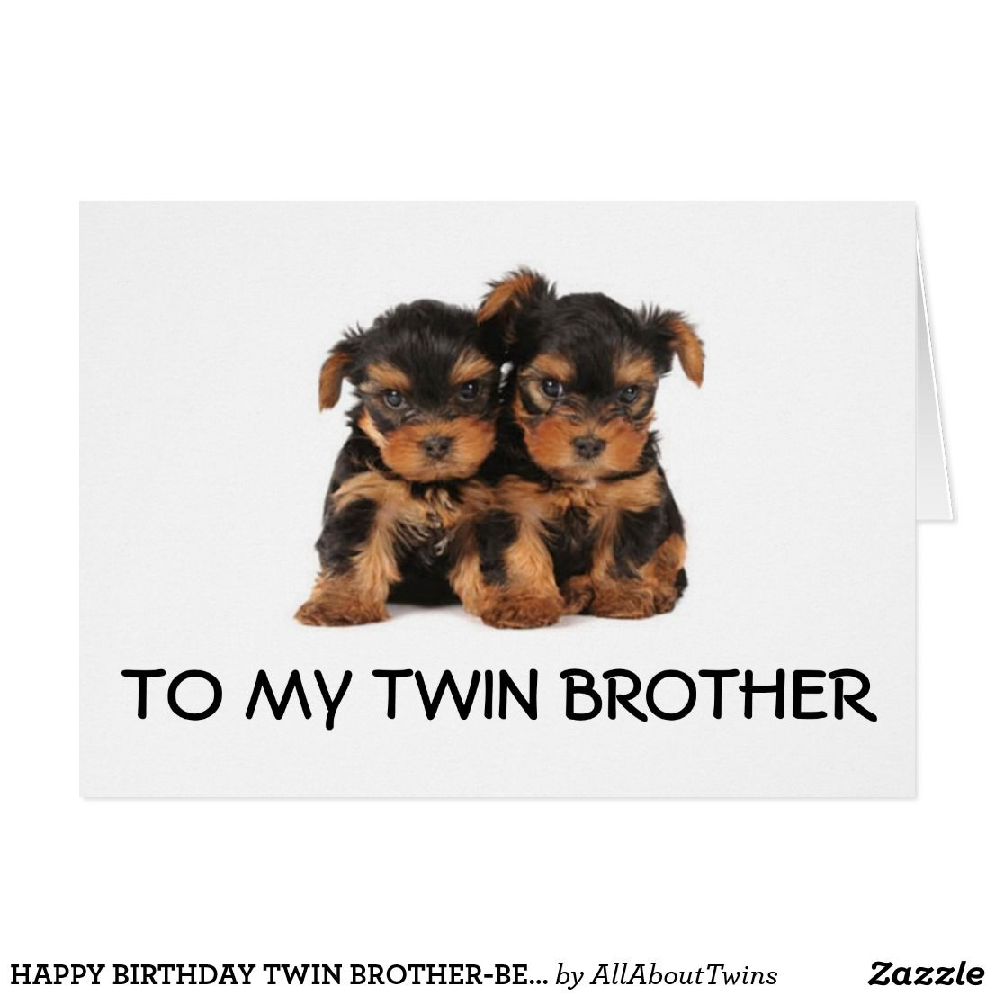 HAPPY BIRTHDAY TWIN BROTHER BEST EVER CARD
