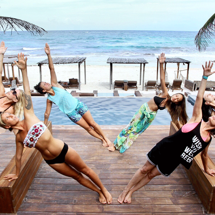 Bikini Bootcamp Is An Adventurous Fitness And Yoga Holiday At Amansala Tulum Wellness Resort Tulum Yoga Holidays