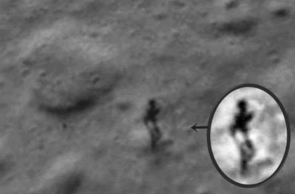 Five Moon images that cannot be explained
