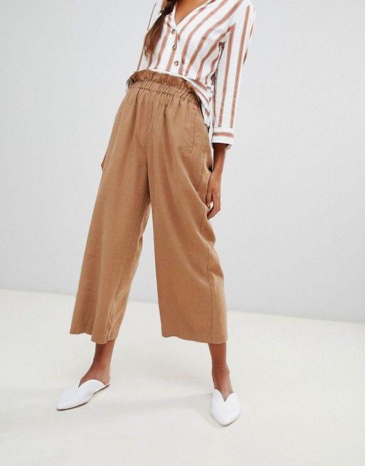 551fa07a035d25 Miss Selfridge cropped wide leg pants in camel in 2019 | Online ...