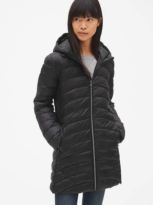 3965570d5 Gap ColdControl Lightweight Hooded Puffer Coat | Products in 2019 ...