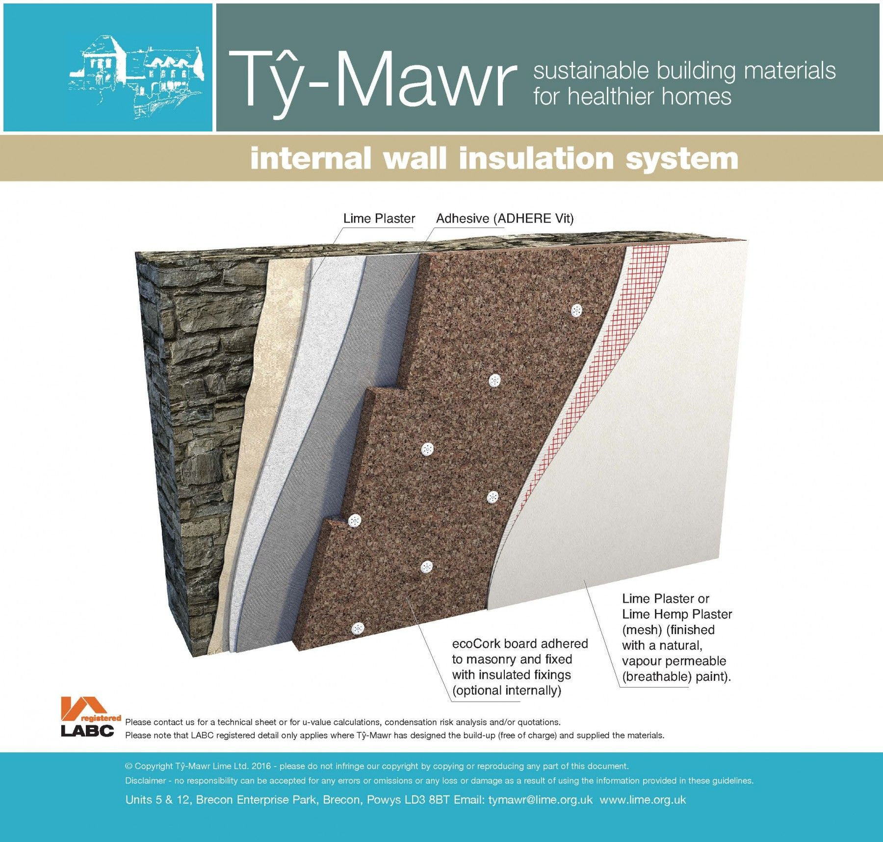 The Ecocork Board Supplied By Ty Mawr Lime Provides Excellent Thermal And Acoustic Performance For External As In 2020 Insulation Solid Wall Insulation Wall Insulation