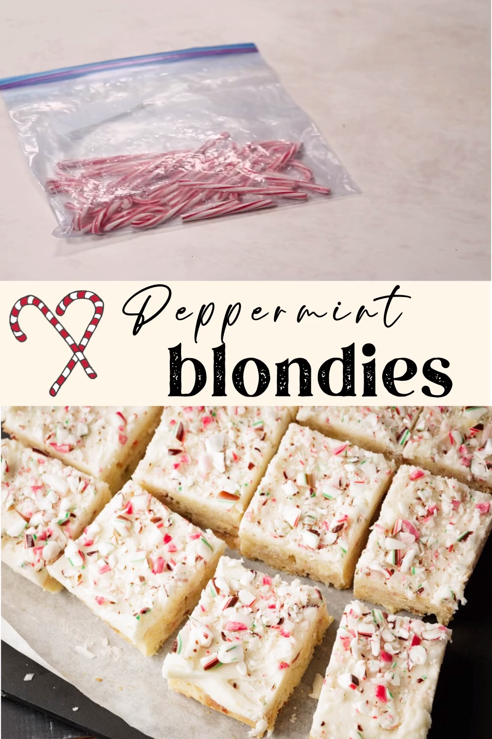 Photo of Frosted Peppermint Blondies