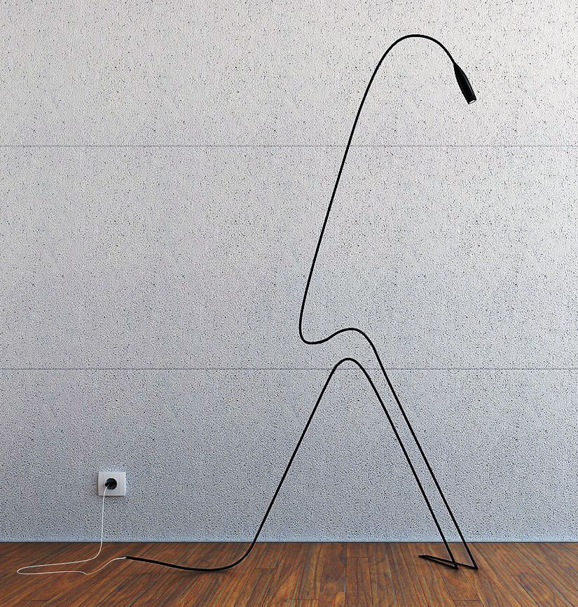 Floor Standing Reading Light By Aibek