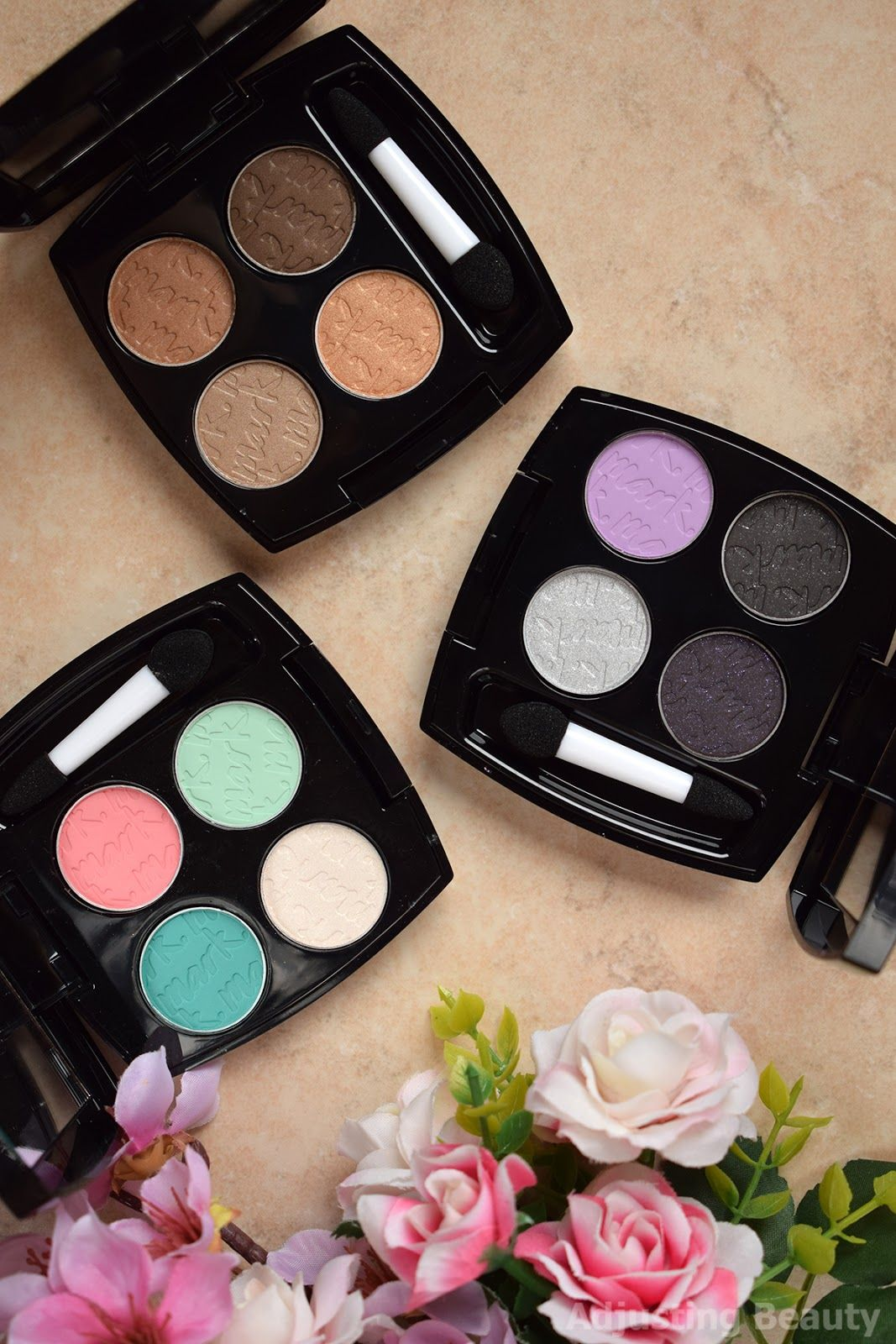8dd901e1f367 Review  Avon Mark Epic Intense Eyeshadow Mini Palettes - Art of the Nudes,  Intergalactic, Island Vibes