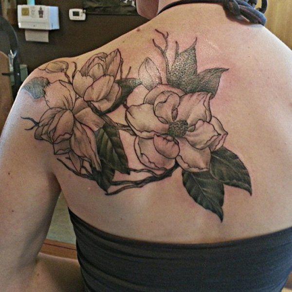 50 magnolia flower tattoos magnolia flower flower tattoos and rh pinterest ca Flower Arm Tattoo Designs Flower Tattoos for Women