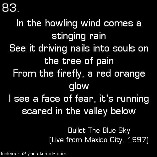 Cuddle Up Quotes: Bullet The Blue Sky, Joshua Tree.... Good Rainy Day To