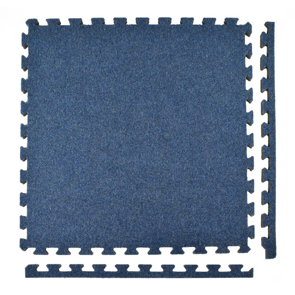 Greatmats Royal Carpet Blue Velour Plush 2 Ft X 2 Ft X 5 8 In