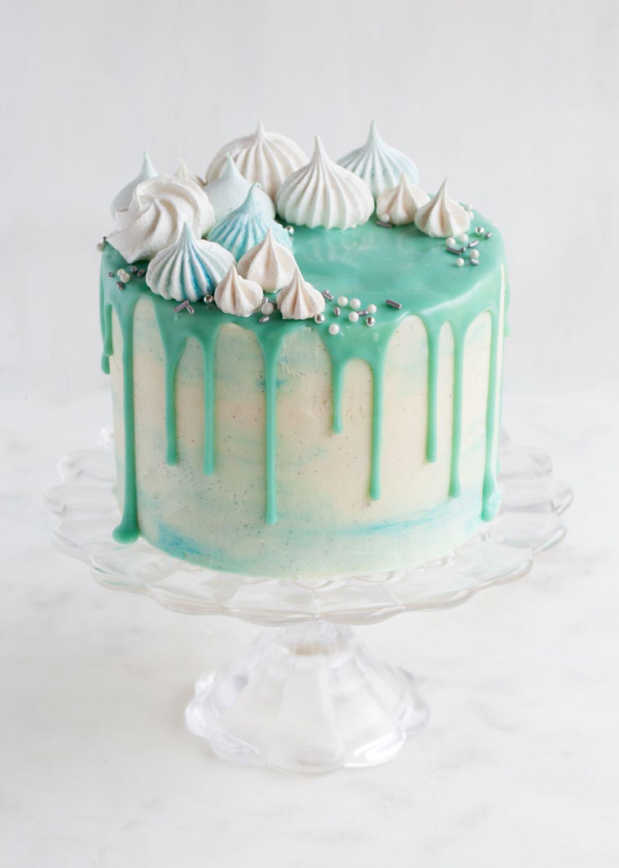 Winter Wonderland Cake Chocolate ganache glaze Winter wonderland