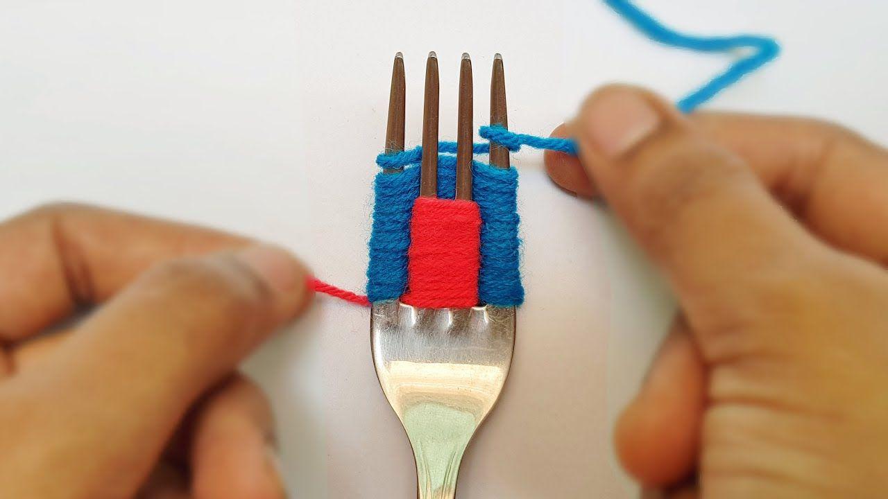 6 Wonderful Flower Crafts Ideas With Woolen Yarn Woolen Thread Flowers Youtube Flower Crafts Yarn Flowers Easy Yarn Crafts