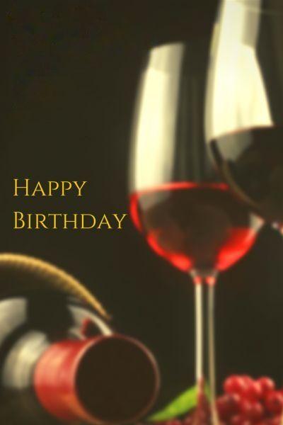 Happy Birthday Wine Cocktail Custom Edit By Lechezz With