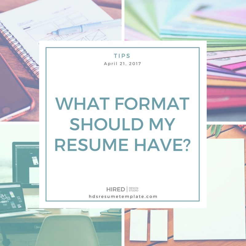Pin by Hired Design Studio on Resume Tips Pinterest - what format should my resume be in