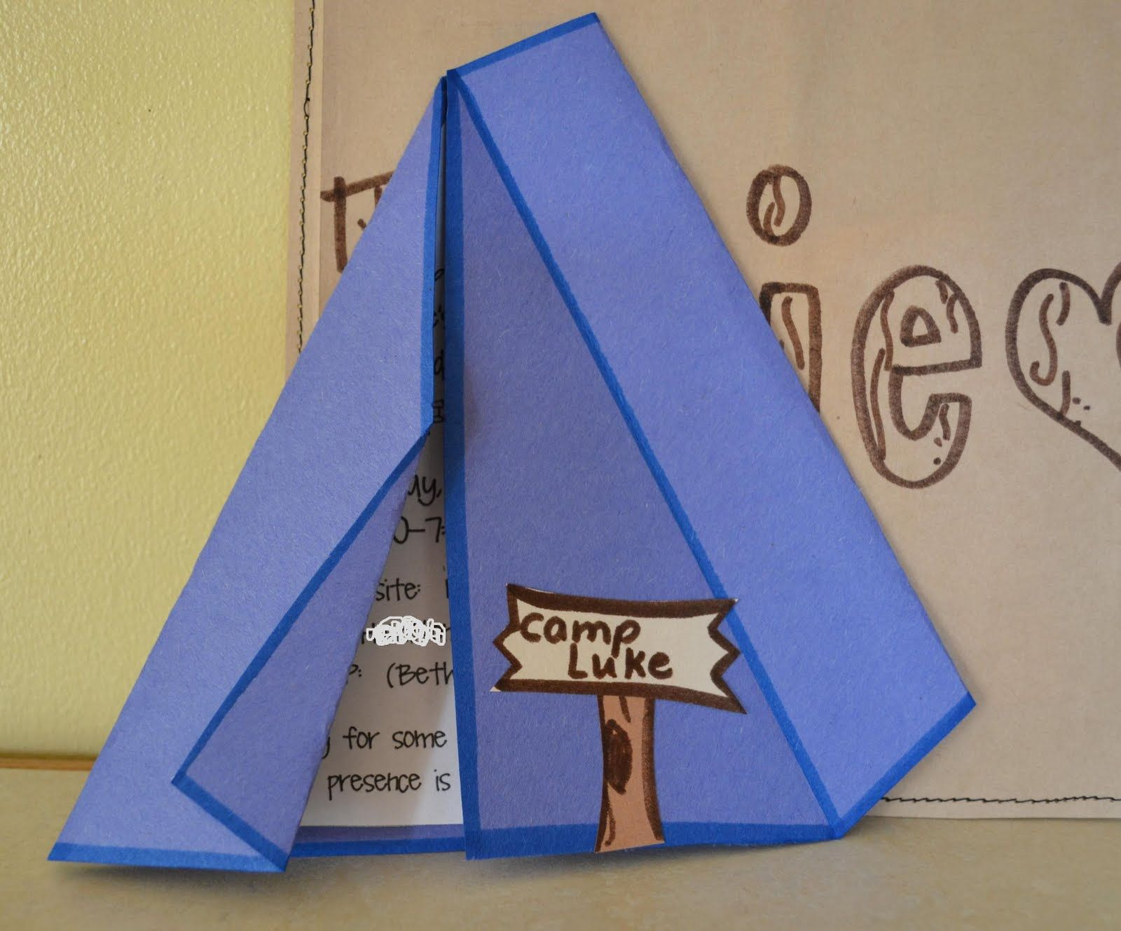 Tent invitation | Camping Party | Pinterest | Tents, Camping ...