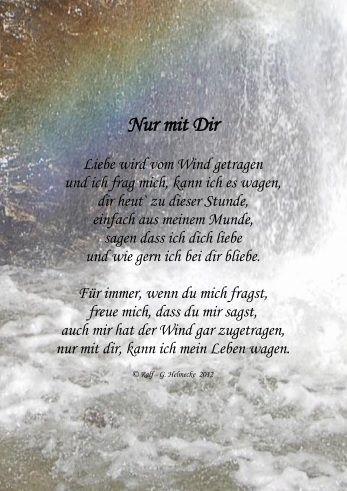 Gedicht liebe nur mit dir