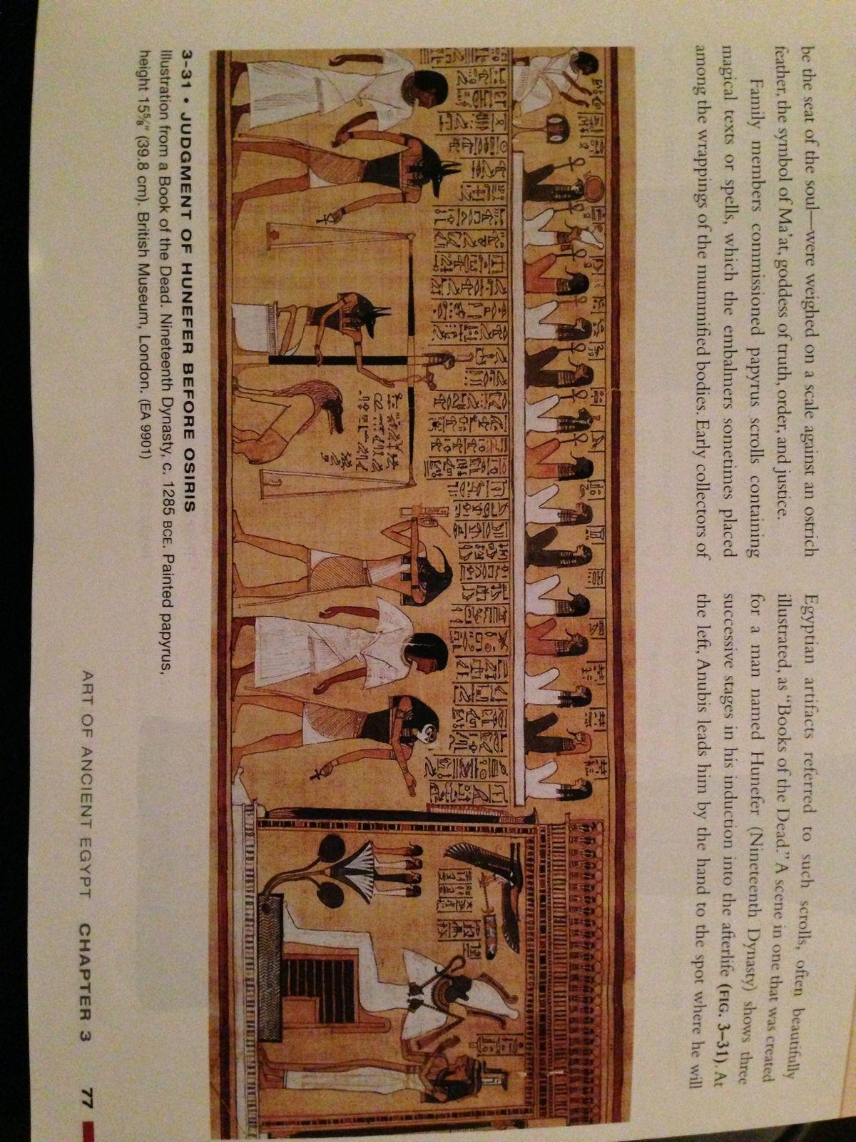Judgement of Hunefer before Osiris (fig. 3-31) Nineteenth ...  Judgement Before Osiris