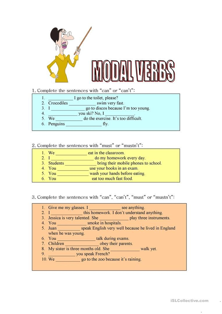 Modals Of Ability Obligation And Prohibition Worksheet Free Esl Printable Worksheets Made By Teachers Words That Describe Me Verb Worksheets Writing Skills [ 1079 x 763 Pixel ]