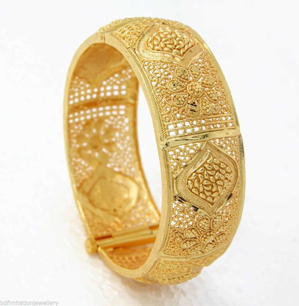 Indian bollywood braclets bangle gold fashionjeweller free size