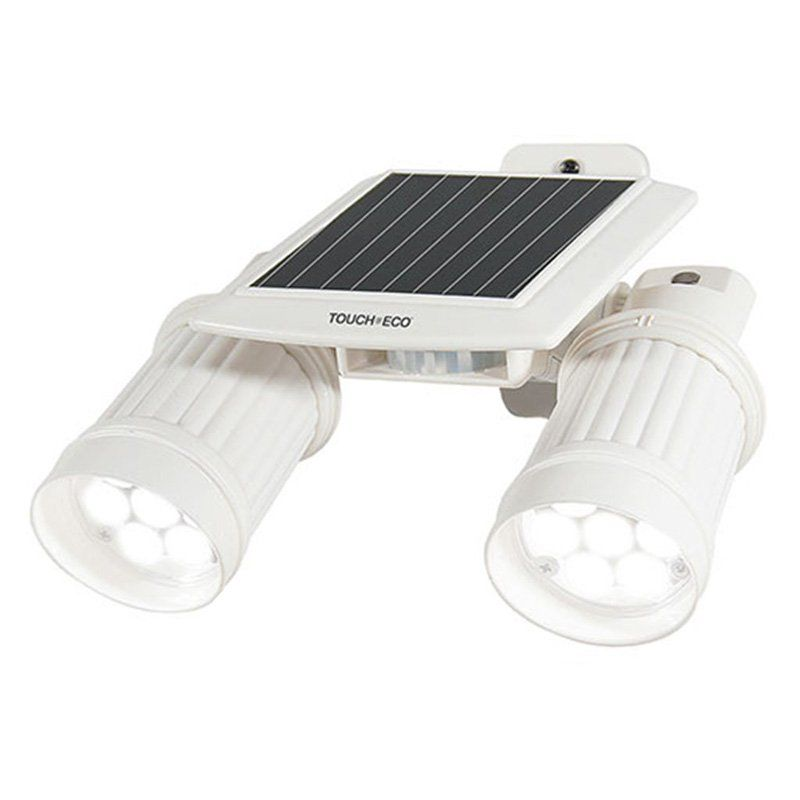 Touch Of Eco Twinspot Solar Dual Motion Spotlight White Toe031