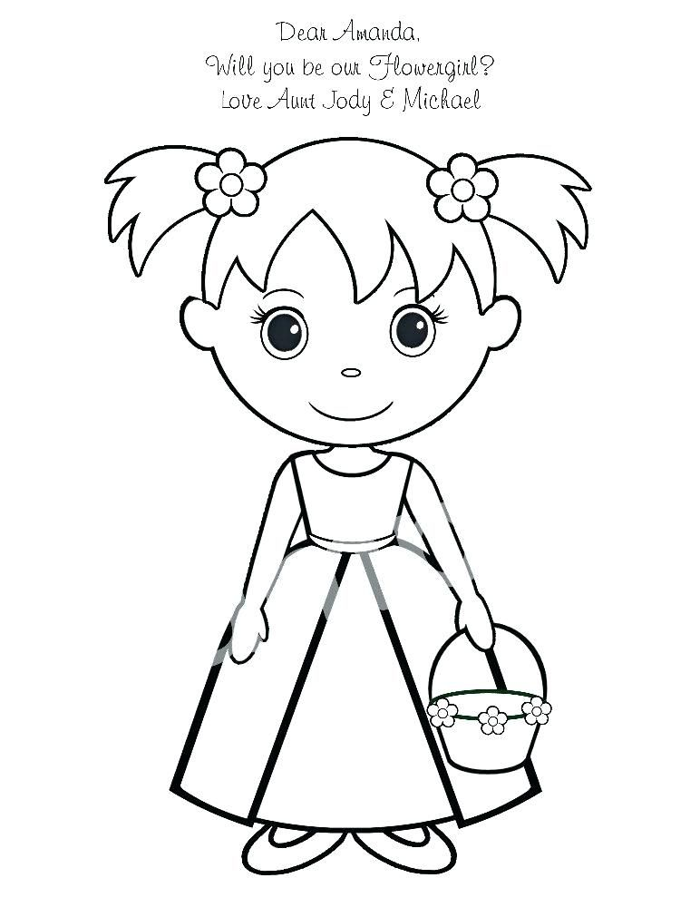 Efdcccbfabaa Nice Flower Girl Coloring Book | flower girl coloring ...