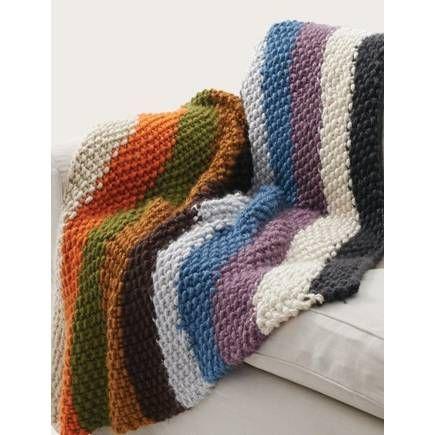 Free Pattern Bernat Seed Stitch Blanket Hobbycraft Patterns