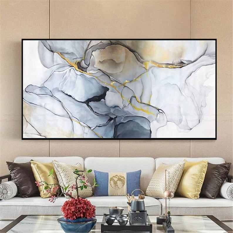 Abstract Painting Canvas Wall Art Pictures For Living Room Etsy In 2020 Abstract Canvas Painting Abstract Painting Wall Art Pictures #paintings #with #frame #for #living #room