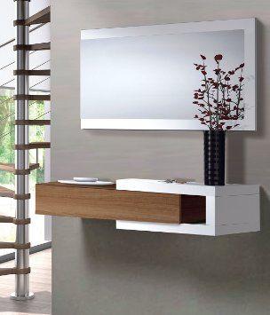 Mueble de entrada recibidor salon comedor sala oficina for Muebles vestibulo moderno