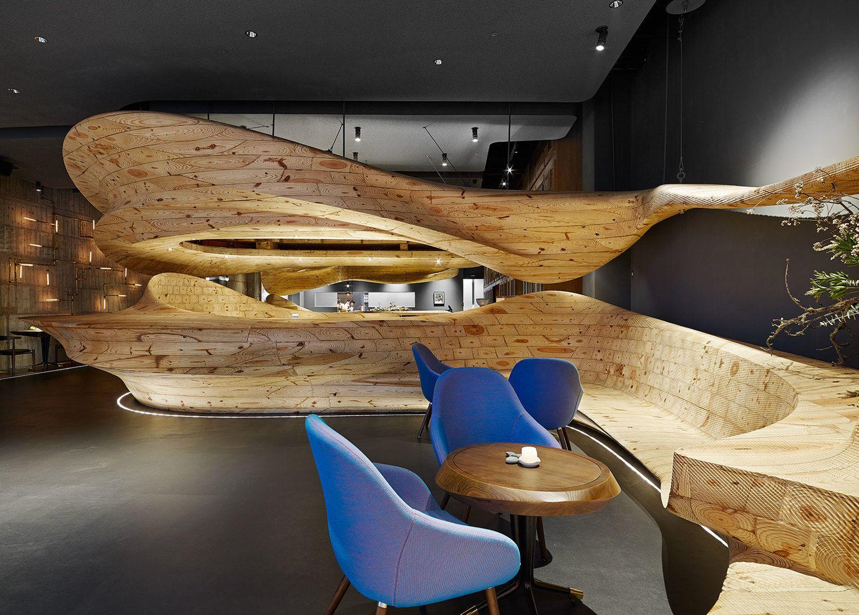 Transition in design | Raw restaurant, Restaurant design ...