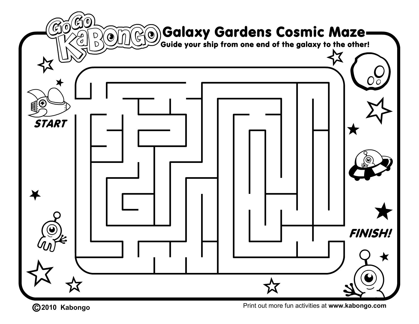 Free Maze Worksheets   Printable Worksheets and Activities for Teachers [ 1275 x 1650 Pixel ]