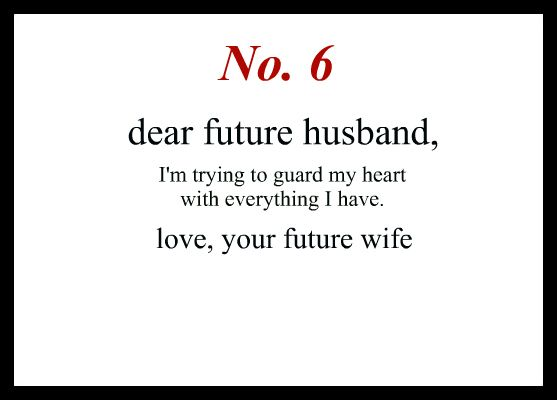 Love Notes To My Future Husband | To My Future Husband