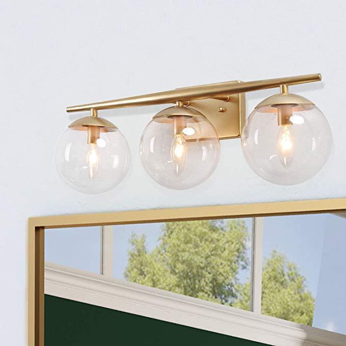 Ksana Orange Gold Bathroom Light Fixtures Modern Bathroom Lights
