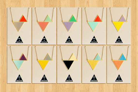 Twin triangle necklace