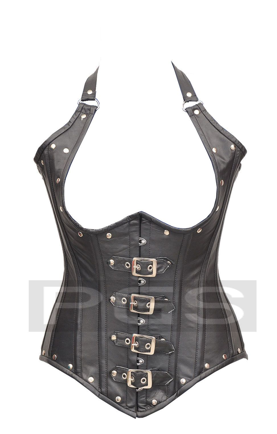 0b6c90b50df Genuine Leather Steel Bone Under Bust Corset Bustier 9015 Inner Shell   Strong 100% Cotton Jean Use As A Lining In This Corset.