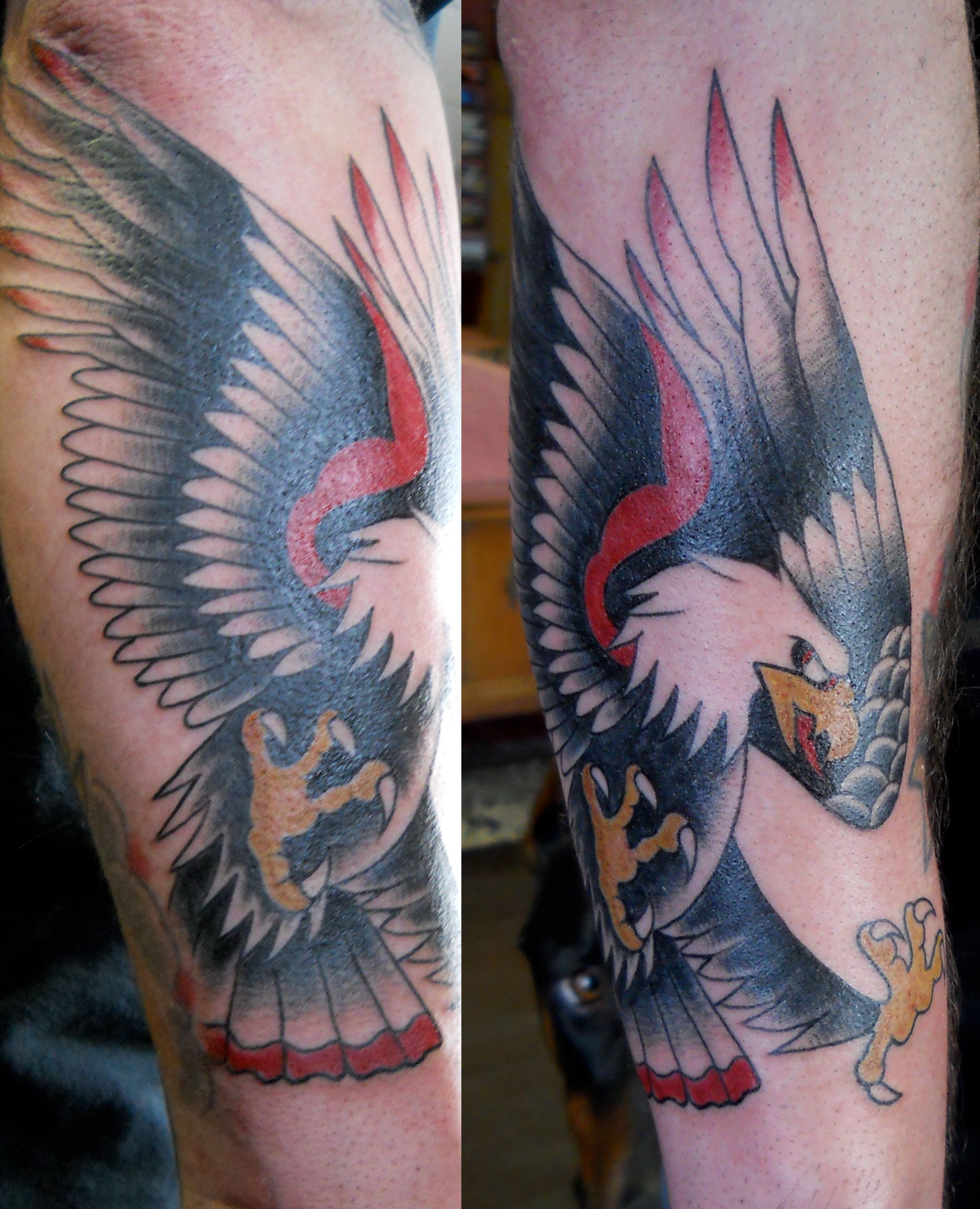 American eagle tattoos high quality photos and flash - Traditional Eagle Tattoo Eagle Tattoo By Lila Rees