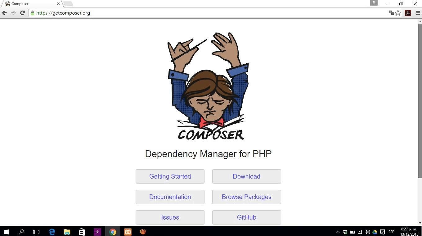 Instalacion composer for PHP